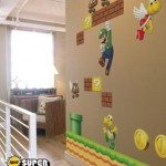 Super Mario Bros en la pared de los chicos