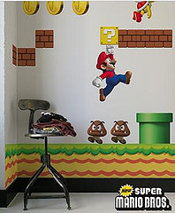 2808326514 1e6014095a m Super Mario Bros en la pared de los chicos