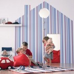 Decoración infantil con papel pintado