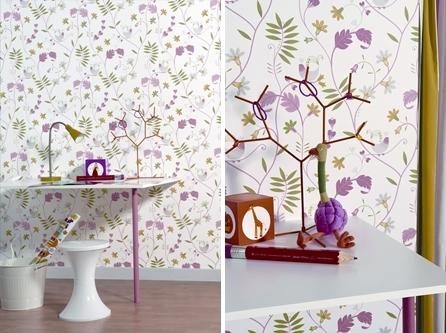 Nuevas ideas para decorar con papel pintado decopeques - Ideas papel pintado ...
