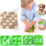 Sandwiches con forma de puzzles y animales