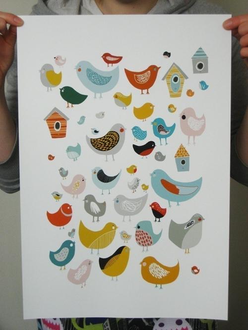 Descubriendo Etsy: Alegres láminas para decorar - DecoPeques