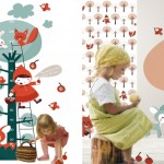 ¡Que bonita es la nueva colección de papeles pintados y stickers de Ocechou!