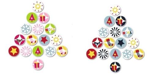stickers navidad Arboles de Navidad adhesivos