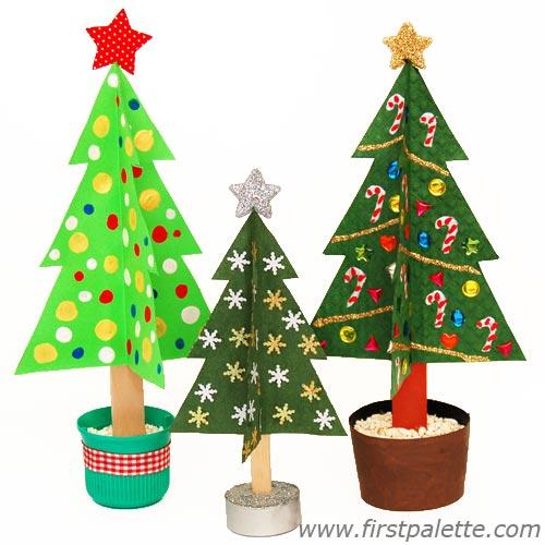 3arboles Manualidad fácil y bonita para Navidad