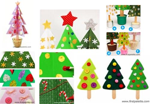 arboles3 Manualidad fácil y bonita para Navidad