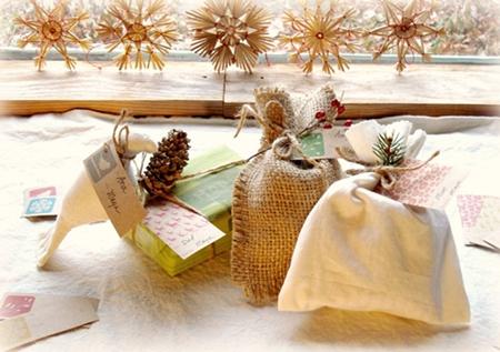 bolsitas regalos Empaquetar los regalos de Navidad, ideas para reciclar