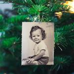 Fotos en el árbol de Navidad