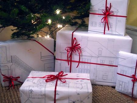 presents Empaquetar los regalos de Navidad, ideas para reciclar