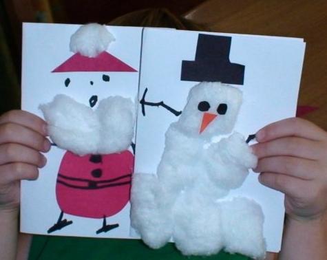 Tarjetas de navidad en preescolar imagui for Manualidades navidenas preescolar