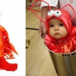 Disfraz de langosta para bebé