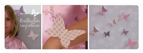 mariposas Mariposas para habitaciones de niñas