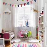 Banderines de fiesta en la habitación infantil