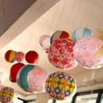 Alegres globos de papel japoneses