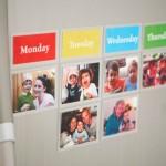 Calendario semanal con fotos para niños