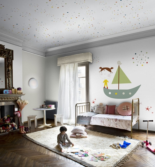 Papel pintado y murales para ni os de coordonne decopeques - Papel pintado pared infantil ...