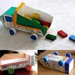 Manualidades infantiles: Camiones reciclados