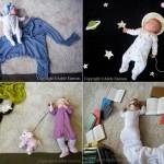 Fotos creativas de un bebé durmiendo