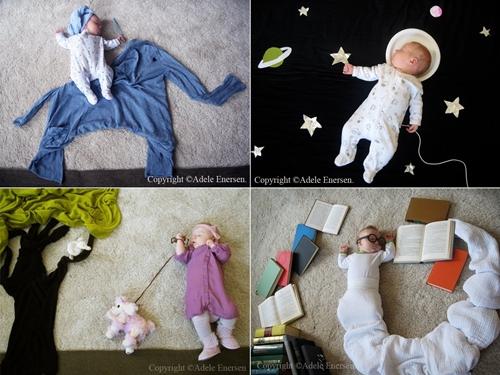 fotos mila1 Fotos creativas de un bebé durmiendo