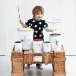 Clic clac foto… Bateria infantil casera