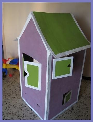 casita carton diy2 Diy: Como hacer una casita infantil de cartón con una caja