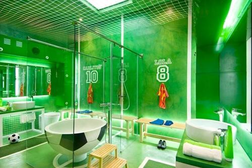 Decoración de baño infantil para futboleros - DecoPeques