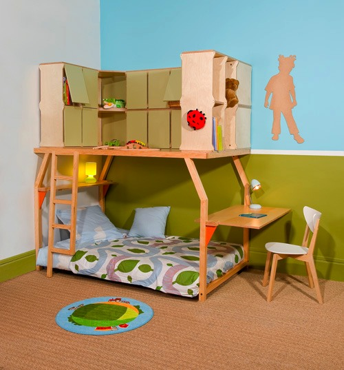 popspace 2 Dormitorios infantiles Popspace por Matali Crasset