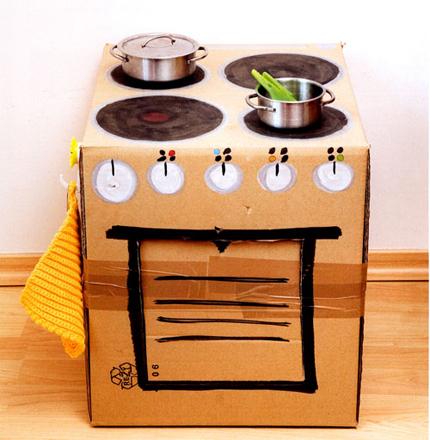 Clic clac foto cocina infantil express decopeques for Cocina de carton