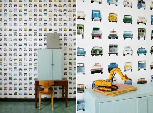 Papeles infantiles de studio ditte decopeques for Papel pintado ninos