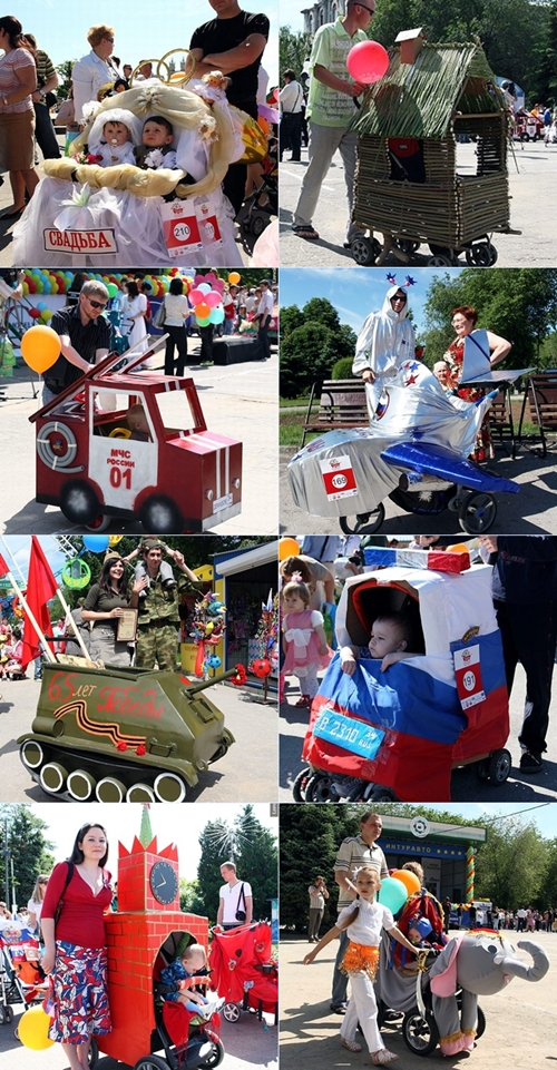 disfraces carritod Disfraces caseros para bebés con carrito