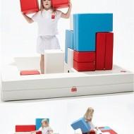 Sofá infantil puzzle de Designskin