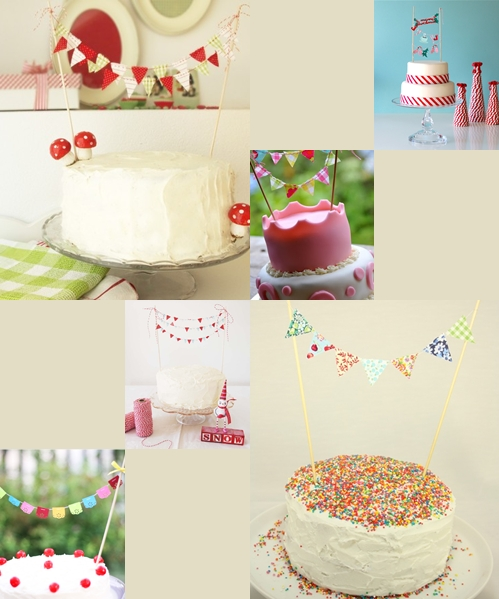 banderines2 Decora las tartas y pasteles con mini guirnaldas