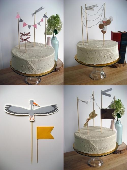 banderines3 Decora las tartas y pasteles con mini guirnaldas