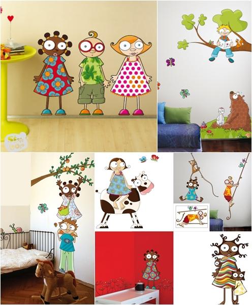 Como hacer cuadros con sticker imagui for Vinilos cuartos infantiles