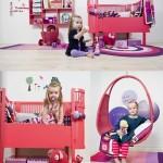 Muebles infantiles en frambuesa