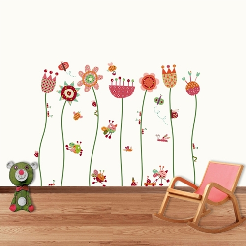 Vinilos decorativos flores infantiles imagui for Vinilos decorativos pared infantiles