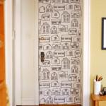 Idea para decorar muebles y paredes con tela.