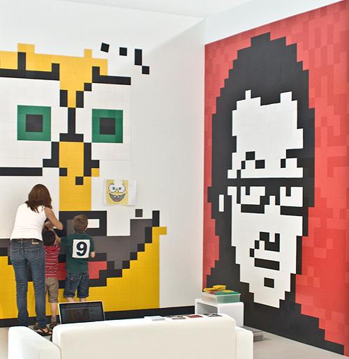 pixelxl mosaicos Decoración original de paredes infantiles con Pixels.