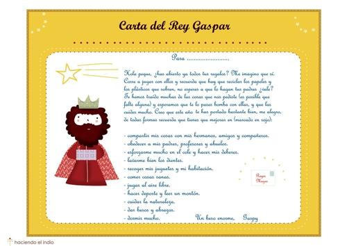 CartaGaspar Cartas de los Reyes Magos para descargar