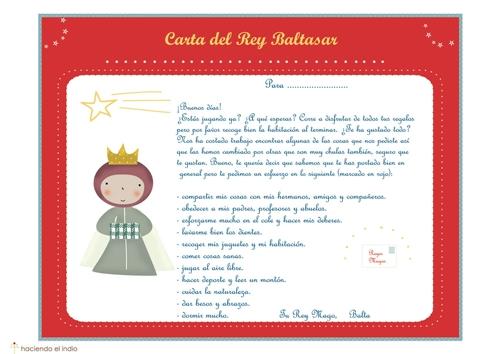 cartaBaltasar Cartas de los Reyes Magos para descargar