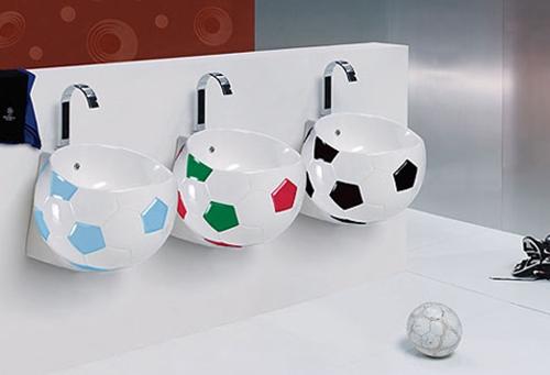 Ba o infantil futbol for Bathroom fittings design ideas