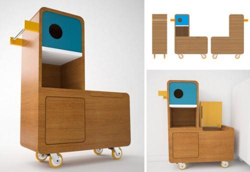 Quackie un patito multiusos decopeques - Muebles para almacenaje ...