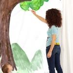 Un papel de pared pintado por los niños