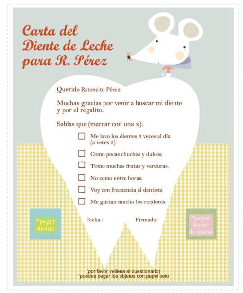 carta para el ratoncito Perez 500x602 Carta para el Ratoncito Perez ¡Gratis!
