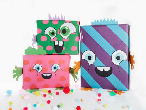 Papel de regalos para hacer paquetes monstruosos muy cool - Paquetes originales para regalos ...