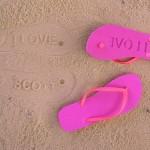 Chanclas de Playa personalizadas con tu huella