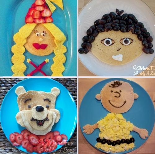pancakes Divertidas Meriendas y Postres para Niños