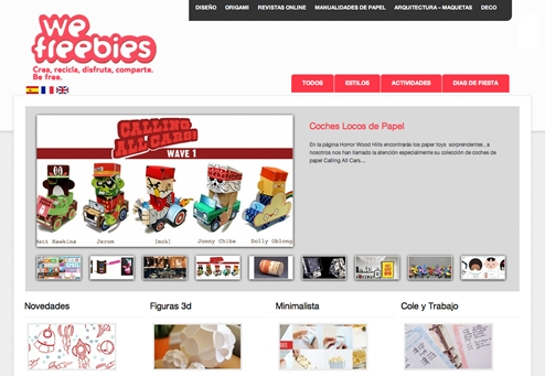 we freebies descargables gratis We Freebies  Primera plataforma de diseños de papel para imprimir gratis