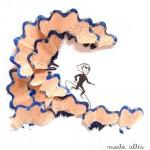 Dibujos creativos con restos de sacapuntas