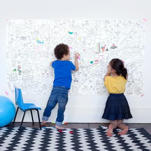 poster para colorear Un mural gigante para pintar